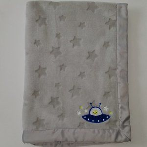 Carter's Alien Gray Stars Baby Blanket Lovey Soft
